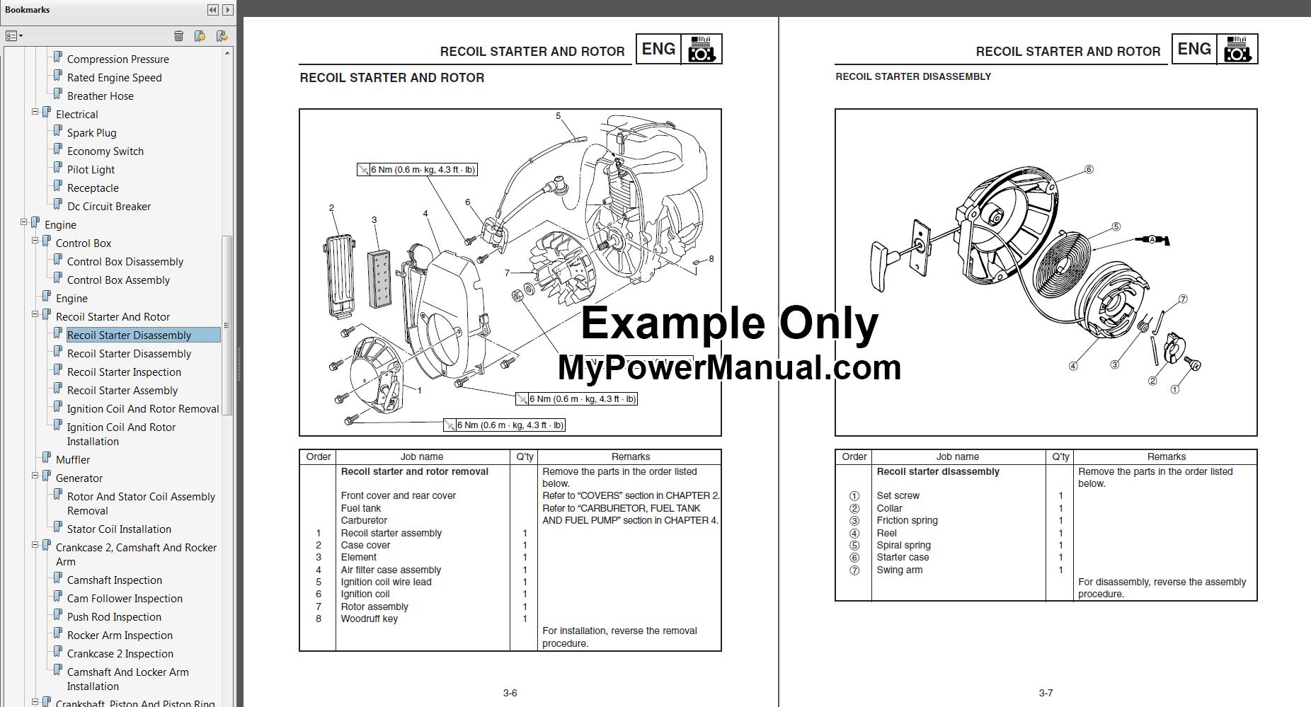 Yamaha Ef600 Generator Service Repair Manual Mypowermanual