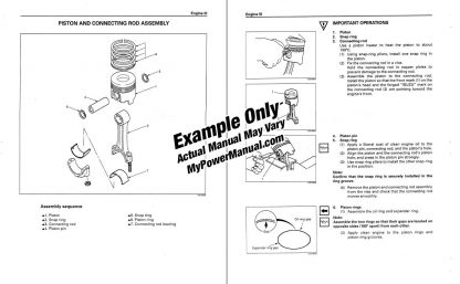 Engine service manual example